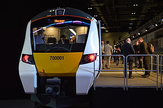 British Rail Class 700 - Full size mock-up of the Class 700 at ExCeL