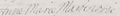 Signature of Anne Marie Martinozzi, Princess of Conti in 1663 at the marriage of Henri Jules de Bourbon and Anne de Bavière, 10 December 1663.png