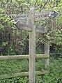 Signpost at Chantmarle ST586024 - geograph.org.uk - 438715.jpg