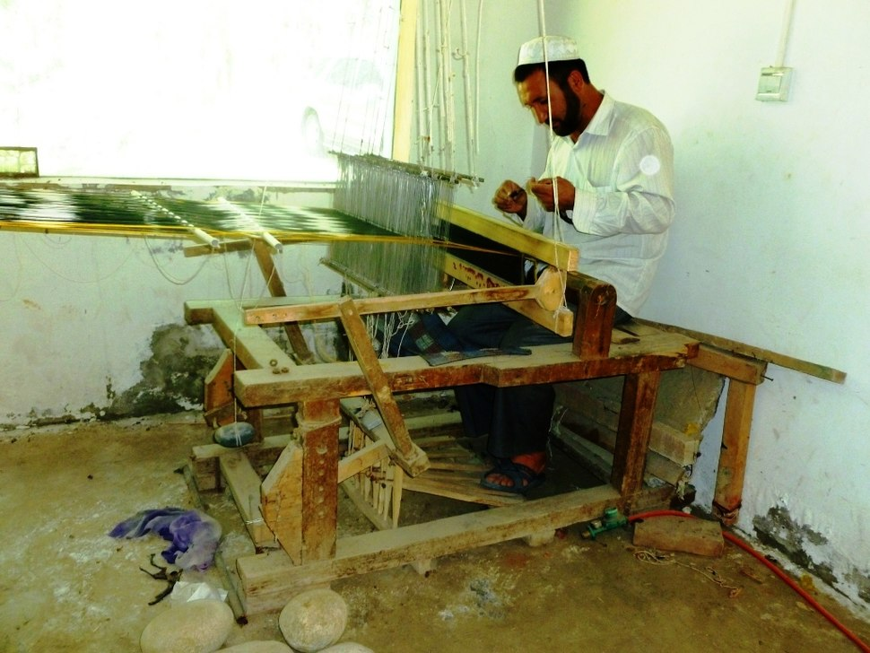Silk weaving in Khotan