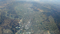 Aerial view of Simi Valley in 2014