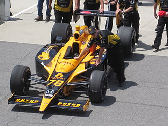 HVM Racing - de Silvestro's car at the Indianapolis Motor Speedway in 2010.