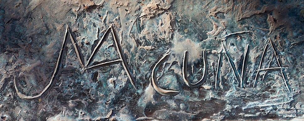 Sinatura de Acuña nunha escultura en Vilalba. Galiza-04