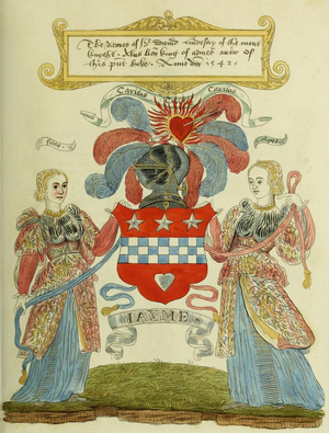 David Lyndsay - Lyndsay's coat of arms, as illustrated in the Lindsay of the Mount Roll