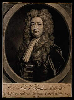Hans Sloane Irish botanist and doctor