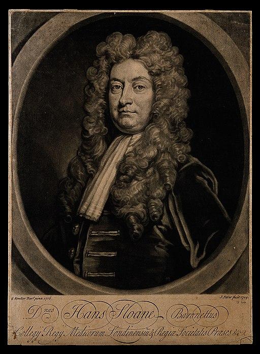 Sir Hans Sloane. Mezzotint by J. Faber, junior, 1729, after Wellcome V0005466