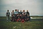 Skoczkowie sekcji spadochronowej Aeroklubu Gliwickiego, Mierzęcice 1993.08.28.jpg