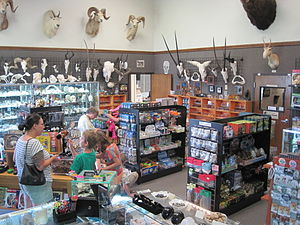 Skulls Unlimited International - Skulls Unlimited's gift shop.