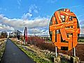Skulpturenweg auf der ehemaligen Nebenbahnstrecke Kreiensen-Hildesheim zwischen Lamspringe und Bad Gandersheim auf 12 km Länge. - panoramio.jpg