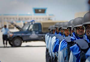 Somali Police Force - Somali Police during inspection