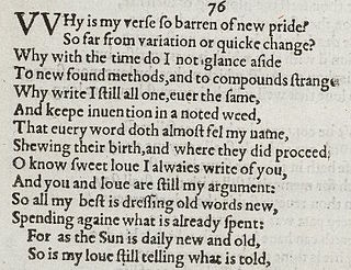 Sonnet 76 poem by William Shakespeare