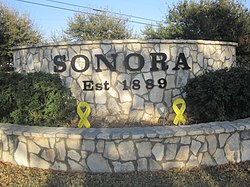 Sonora entrance sign