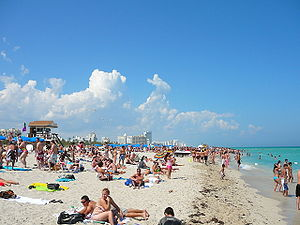 South Beach - Typical winter day on South Beach.