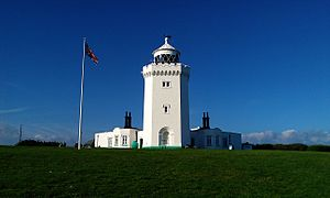South Foreland Lighthouse - South Foreland Lighthouse from the front