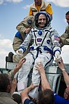 Soyuz TMA-03M Donald Pettit shortly after landing.jpg