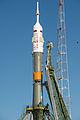 Soyuz TMA-10M spacecraft at the Baikonur Cosmodrome launch pad (6).jpg