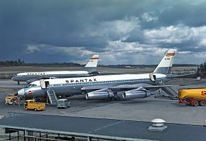 1970 Spantax Convair crash - EC-BNM, the aircraft involved in the accident, shown here at Arlanda Airport in 1968.