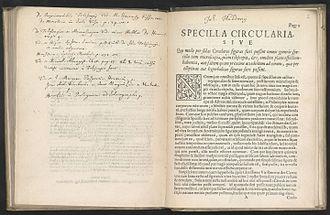Johannes Hudde - Specilla circularia, a text on telescopes from 1656 by Johannes Hudde