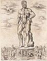 Speculum Romanae Magnificentiae- Hercules Colossus at Padua (L'Ercole di casa Benavides a Padova) MET DP163350.jpg