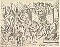 Speculum Romanae Magnificentiae- Roman Soldiers Fortifying their Camp, from Trajan's Column MET DP820282.jpg
