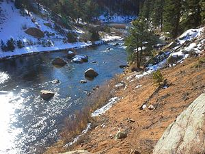 South Platte River - South Platte River in Douglas County, Colorado,
