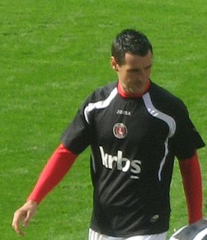 Matthew Spring - Spring warming up for Charlton Athletic in 2009