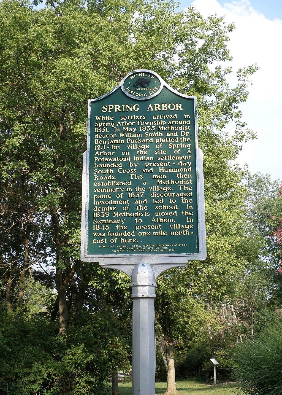 Spring Arbor sign