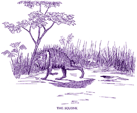 The squonk as illustrated by Coert Du Bois from Fearsome Creatures of the Lumberwoods.