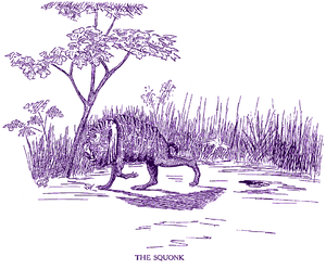 """A Trick of the Tail - """"Squonk"""" is based on the mythical creature from the U.S. as illustrated here from Fearsome Creatures of the Lumberwoods, With a Few Desert and Mountain Beasts (1910)."""