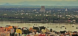Srirangam Temple view from Rock fort Temple (cropped).jpg