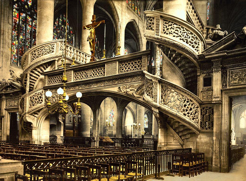 file st etienne du mont church interior paris wikimedia commons. Black Bedroom Furniture Sets. Home Design Ideas