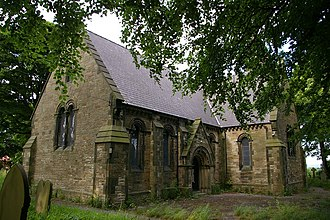 Rhosllanerchrugog - St John's Anglican parish church, 1852.