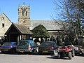 St Cuthbert's Church, Allendale, and war memorial lych gate.jpg