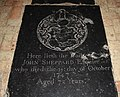 St Mary, Mendlesham - Ledger slab (geograph 2727193).jpg