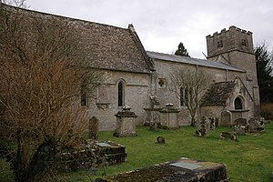 Cherington, Gloucestershire - Image: St Nicholas church, Cherington geograph.org.uk 323322