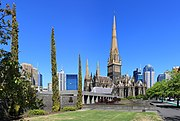 St Patrick's Cathedral, Melbourne (the foundation stone was laid in 1858)