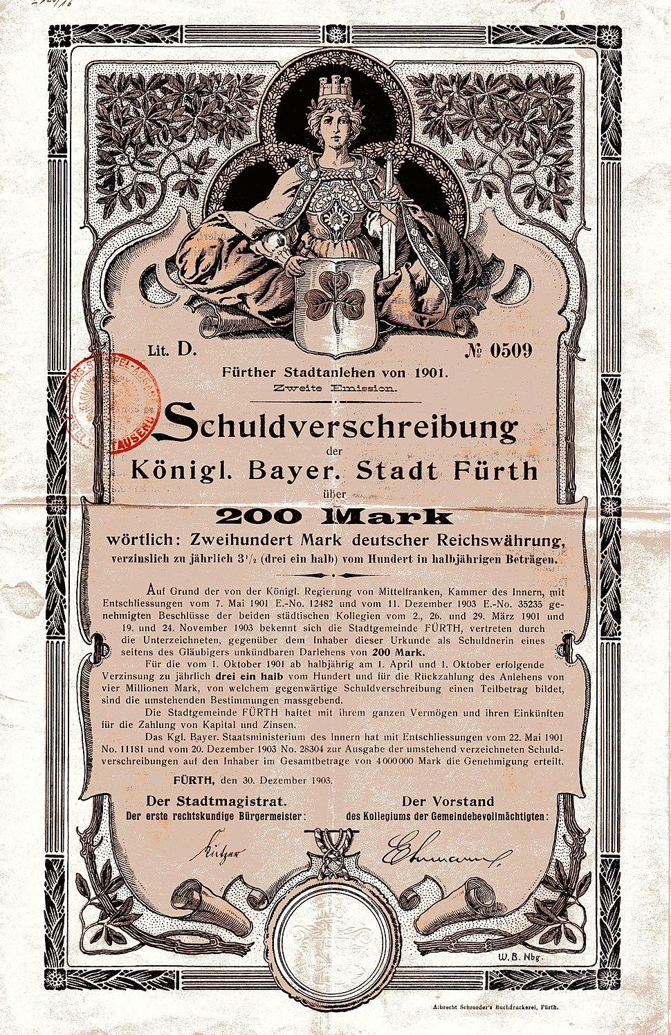 Stadt Fürth 1903