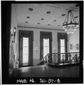 Stairway,from second floor landing - Gary Municipal Building, 401 Broadway, Gary, Lake County, IN HABS IND,45-GRAY,1-8.tif