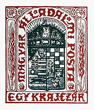 Postage stamps and postal history of Hungary - The 1 kr stamp of Mór Than.