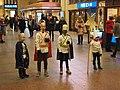 Star singers at Helsinki Central railway station.jpg