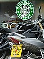 Starbucks, Borders, Motorbikes - geograph.org.uk - 1367449.jpg