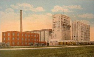 North Dakota Mill and Elevator - Postcard showing the North Dakota Mill and Elevator