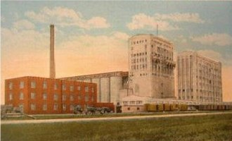 North Dakota Mill and Elevator - Postcard showing the North Dakota Mill and Elevator
