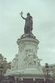 An allegory of the Republic in Paris