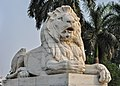 Statue of lion outside Victoria Memorial 31012016.jpg