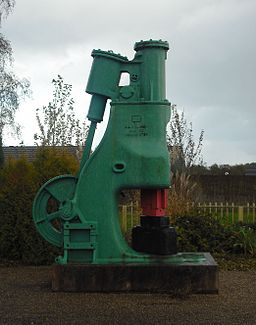 Steam hammer, rear face, Griffithstown