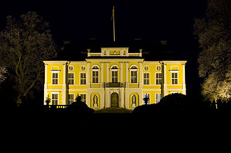 1694 in Sweden - Steninge Palace at Night.