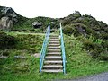 Steps in Horrocks Fold Quarries - geograph.org.uk - 501195.jpg