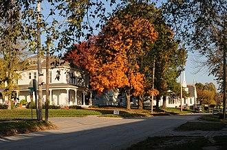 Stewartsville, Missouri - Image: Stewartsville, Missouri Northward View of Main Street