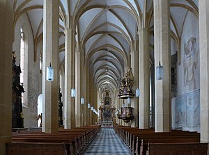 St. Lambrecht's Abbey - The interior of the gothic monastic church